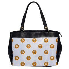 Bitcoin Logo Pattern Office Handbags