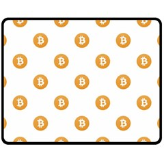 Bitcoin Logo Pattern Fleece Blanket (medium)