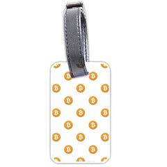 Bitcoin Logo Pattern Luggage Tags (one Side)