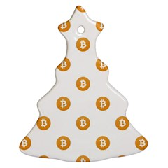 Bitcoin Logo Pattern Ornament (christmas Tree)