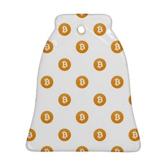 Bitcoin Logo Pattern Ornament (bell)