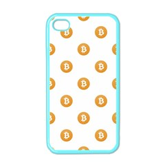 Bitcoin Logo Pattern Apple Iphone 4 Case (color)
