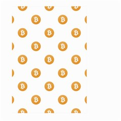 Bitcoin Logo Pattern Large Garden Flag (two Sides)