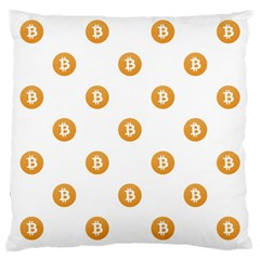 Bitcoin Logo Pattern Large Cushion Case (two Sides)