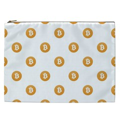 Bitcoin Logo Pattern Cosmetic Bag (xxl)
