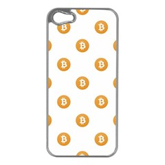 Bitcoin Logo Pattern Apple Iphone 5 Case (silver)