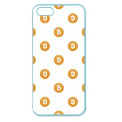 Bitcoin Logo Pattern Apple Seamless Iphone 5 Case (color)