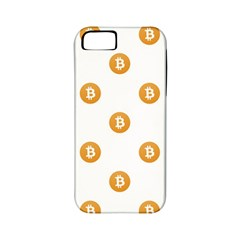 Bitcoin Logo Pattern Apple Iphone 5 Classic Hardshell Case (pc+silicone)