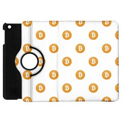 Bitcoin Logo Pattern Apple Ipad Mini Flip 360 Case