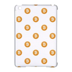 Bitcoin Logo Pattern Apple Ipad Mini Hardshell Case (compatible With Smart Cover)