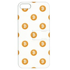 Bitcoin Logo Pattern Apple Iphone 5 Hardshell Case With Stand