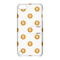 Bitcoin Logo Pattern Apple Ipod Touch 5 Hardshell Case With Stand