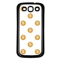 Bitcoin Logo Pattern Samsung Galaxy S3 Back Case (black)