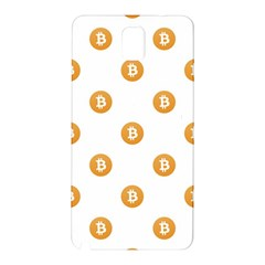 Bitcoin Logo Pattern Samsung Galaxy Note 3 N9005 Hardshell Back Case