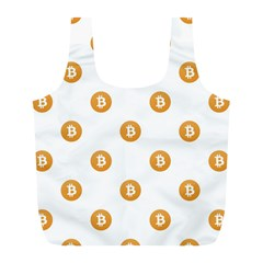 Bitcoin Logo Pattern Full Print Recycle Bags (l)