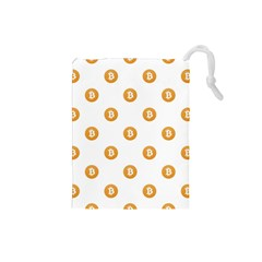 Bitcoin Logo Pattern Drawstring Pouches (small)