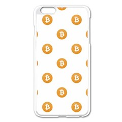 Bitcoin Logo Pattern Apple Iphone 6 Plus/6s Plus Enamel White Case