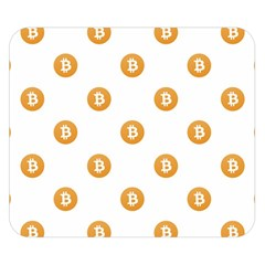 Bitcoin Logo Pattern Double Sided Flano Blanket (small)