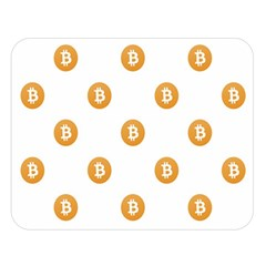 Bitcoin Logo Pattern Double Sided Flano Blanket (large)