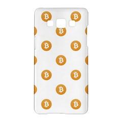 Bitcoin Logo Pattern Samsung Galaxy A5 Hardshell Case