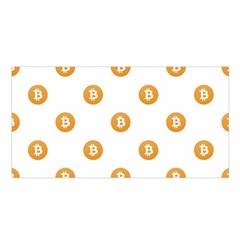 Bitcoin Logo Pattern Satin Shawl