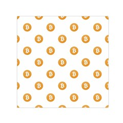 Bitcoin Logo Pattern Small Satin Scarf (square)