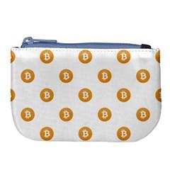 Bitcoin Logo Pattern Large Coin Purse
