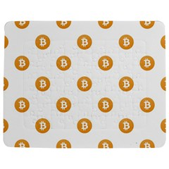Bitcoin Logo Pattern Jigsaw Puzzle Photo Stand (rectangular)