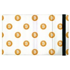 Bitcoin Logo Pattern Apple Ipad Pro 12 9   Flip Case