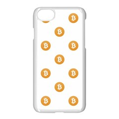 Bitcoin Logo Pattern Apple Iphone 8 Seamless Case (white)