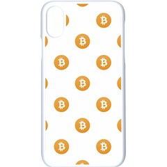 Bitcoin Logo Pattern Apple Iphone X Seamless Case (white)