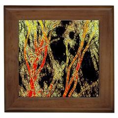 Artistic Effect Fractal Forest Background Framed Tiles