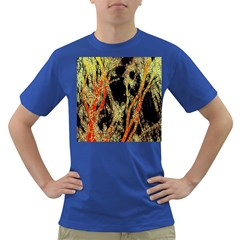 Artistic Effect Fractal Forest Background Dark T Shirt