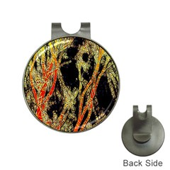 Artistic Effect Fractal Forest Background Hat Clips With Golf Markers