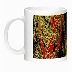 Artistic Effect Fractal Forest Background Night Luminous Mugs