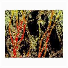 Artistic Effect Fractal Forest Background Small Glasses Cloth