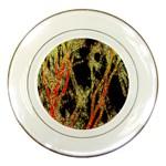 Artistic Effect Fractal Forest Background Porcelain Plates Front