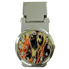Artistic Effect Fractal Forest Background Money Clip Watches