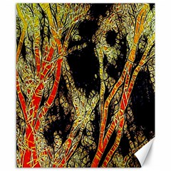 Artistic Effect Fractal Forest Background Canvas 8  X 10
