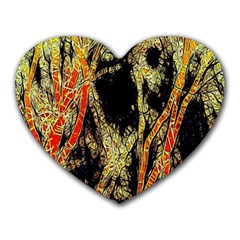 Artistic Effect Fractal Forest Background Heart Mousepads