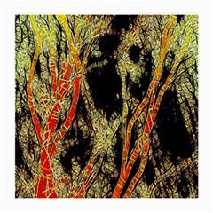 Artistic Effect Fractal Forest Background Medium Glasses Cloth (2 Side)