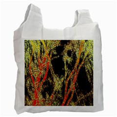 Artistic Effect Fractal Forest Background Recycle Bag (two Side)