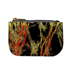Artistic Effect Fractal Forest Background Mini Coin Purses