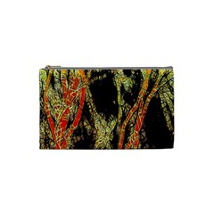 Artistic Effect Fractal Forest Background Cosmetic Bag (small)