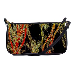 Artistic Effect Fractal Forest Background Shoulder Clutch Bags