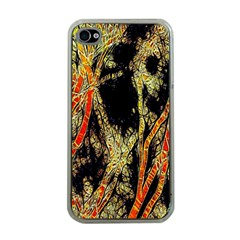 Artistic Effect Fractal Forest Background Apple Iphone 4 Case (clear)