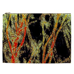 Artistic Effect Fractal Forest Background Cosmetic Bag (xxl)