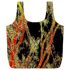Artistic Effect Fractal Forest Background Full Print Recycle Bags (l)