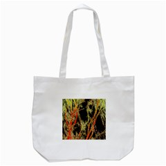 Artistic Effect Fractal Forest Background Tote Bag (white)
