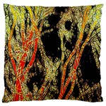 Artistic Effect Fractal Forest Background Large Flano Cushion Case (Two Sides) Back